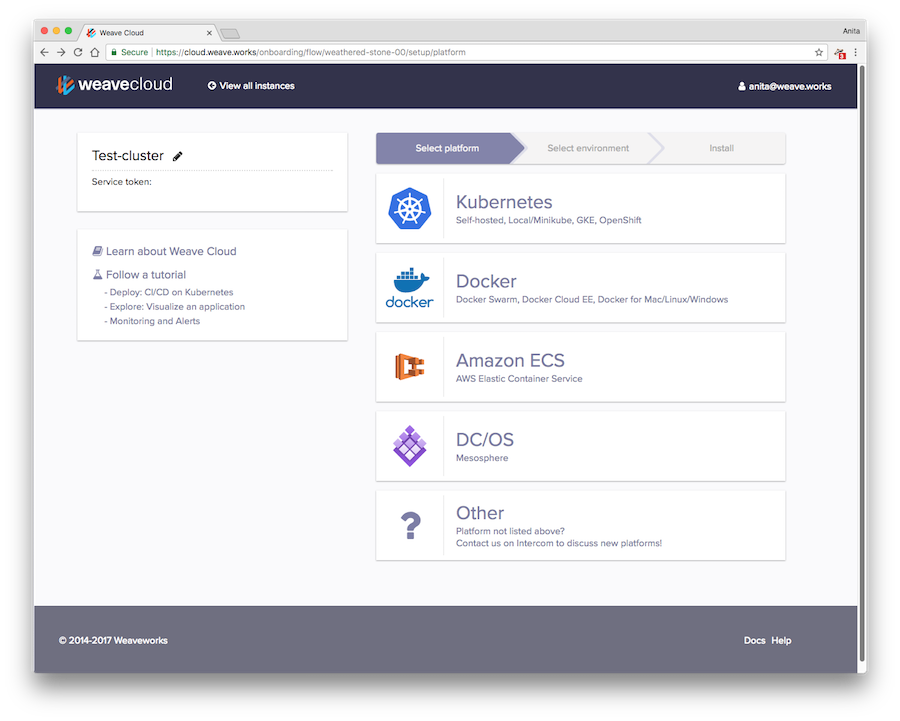 Weave Setup Screens